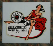 Original Vintage Decal Speed Specialties Cams Hot Rod Flathead Pinup Scta Old