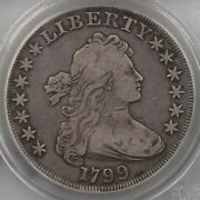 1799 Draped Bust 1 Pcgs Cac Certified F12 Old Green Label Holder Premium Circ