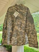 Us Army Shirt Uniform Insect Repellant Buzz Off Mens Large Long Camo Jacket New