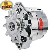 Powermaster 17127 1-groove V-pulley 85a Gm 10si One Wire Alternator - Chrome