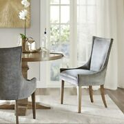 Madison Park Ultra Wood Dining Chair Set Of 2 In Dark Grey Finish Mps108-0156