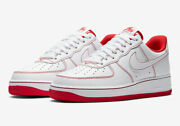 Nike Air Force 1 07 White University Red Stitch Shoes Men's Size 14 Cv1724-100
