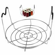 12-inch Canning Rack Stainless Steel Steamer Jar Rack Silicone Handle Kitchen