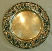 S. Kirk And Son Inc Sterling Silver 11 Plate With Floral Repousse Border 22.6 Ozt