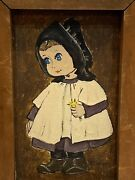 Dolores Hackenberger Little Amish Girl Framed And Signed Oil Painting