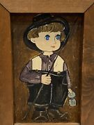 Dolores Hackenberger Little Amish Boy Framed And Signed Oil Painting On Canvas