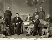 President Abraham Lincoln And His Cabinet 1866 8.5 X11 Photo Portrait Reprint
