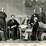 President Abraham Lincoln And His Cabinet In 1861 8.5 X11 Photo Reprint Washington