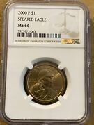 2000 P Sacagawea Dollar Ngc Ms66 - Wounded Eagle / Speared Eagle