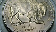 Error 2005-p Detached Leg Bison Gold Toned Nickel 5c Straight From Roll Bu 2