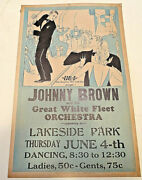 1920's Johnny Brown And His Great White Fleet Orchestra Sign, Lakeside Park,pa