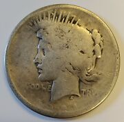 1921-p Peace Silver Dollar High Relief 1 With Ag/g Details