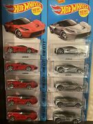 Hotwheels Laferrari Red And Silver Lot 10 Cars