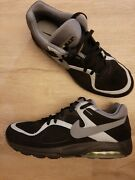 Nike Air Max Size 14 Black With Reflective Silver Og Retro Vintage Rare Fresh 🧨