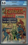 Cgc 5.5 Fantastic Four 27 Early 1st Doctor Strange Crossover Ow/white Pages