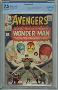 Cbcs 7.5 Avengers 9 1st Appearance Of Wonder Man Ow/white Pages Cgc