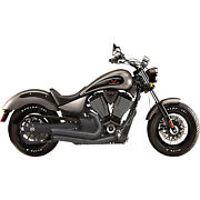 Bassani Xhaust 1810-1997 Pro-street Turn Out Exhaust System Black 6v23db Victory