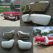 1957 1958 Plymouth Frp Bumper Wings Complete Set Of 4 Fury Belvedere Christine