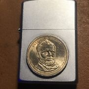Ulysses S. Grant Presidential Gold Coin Zippo Lighter 2006andndash2011 P Coin Used