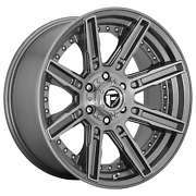 20 Inch 5x127 4 Wheels Rims 20x9 +1mm Brushed Gun Metal Tinted Clear Fuel 1pc
