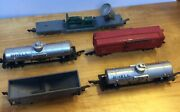 Used Vintage American Flyer Cars Lot Of 5 , 7210 , 625 , 629 , 632 , 625 B