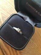 And Co Lucida .37ct Vvs2 Platinum Solitaire Diamond Ring Size L