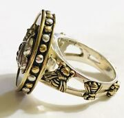 Qvc Sold Out Echo Of The Dreamer 925 Sterling Silver Bronze Garden Ring Sz 10