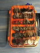 Fly Fishing Flies Assortment And Double Sided Sealed Dry Fly Tackle Box