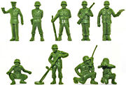 Marx Recast 60mm U.s. Infantry - 25 In 9 Poses - Plastic Toy Soldiers 1990s
