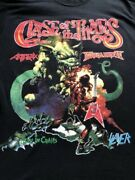 Clash Of The Titans Boris Vallejo Vintage Band T Tag Yes Slayer Anthrax Megadeth