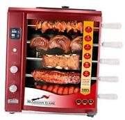 Bg-05lxk-red Brazilian Gas Rotisserie Grill 5 Skewers Red Upper Tray Included