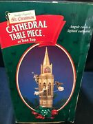 1999 Mr Christmas Cathedral Table Piece Or Tree Top Rotating Angels And Lighted