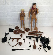 Vintage Marx Johnny And Jay West Best Of The West Lot W Accessories As Is