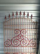 Vintage Wrought Iron Fence Gate Architecture Architectural Salvage