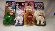 Mcdonalds Happy Meal Toy Complete Beanie Baby Boxes 1-4 Collection New Ty Babies