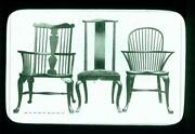 Historical Glass Slide 007, Antique-vintage Furniture, 3 Styles Of Chairs