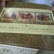 Fred Stone Triple Crown 1919 - 1978 Print Signed By Stone