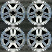 Ford Mustang Machined W/ Silver Pockets 17 Oem Wheel Set 2005 To 2009