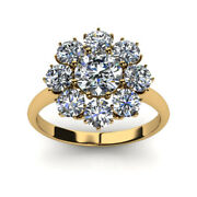 Sophisticated 1.20 Ct Natural Diamond Wedding Ring Solid 14k Yellow Gold 7 8 5 6