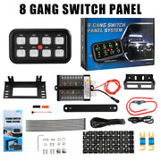 Car Marine Boat 8 Gang Switch Panel Electric Circuit Control Relay System 1200w