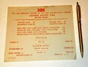 Ship It On The Frisco Railroad Gold Ritepoint Pen And 1967 Lounge Car Menu Lot