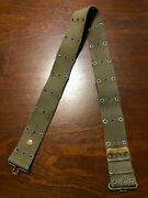 Ww2 Us Army Lot M1936 Web Pistol Belt And M1942 Od Green Canteen Cover Wolk 1945