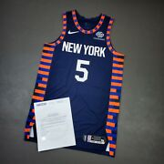 100 Authentic Courtney Lee Knicks 2018 Game Used Worn Jersey Size 48+4 Loa