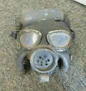 Wwii 1942 Us Navy Gas Mask W/hose And Canister