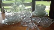 Anchor Hocking Waterford Dinnerware Set Service 4 29 Pieces 1940s Euc Clear