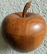 Antique Hand Carved Wooden Apple Box