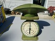 Vintage American Family 25 Lb Scale 1906 Model Country Farm House Kitchen Deco