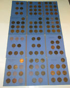 Nearly Complete 108 Coins 1860-1966 Great Britian Penny Collection Set Uk Look
