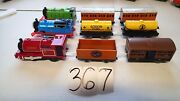 Vintage Trackmaster 90's Electric Thomas The Tank Train Engine And Cars