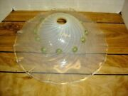 Murano Glass Italy Swrl Opalescent Big Lamp Shade With Gold Decoration